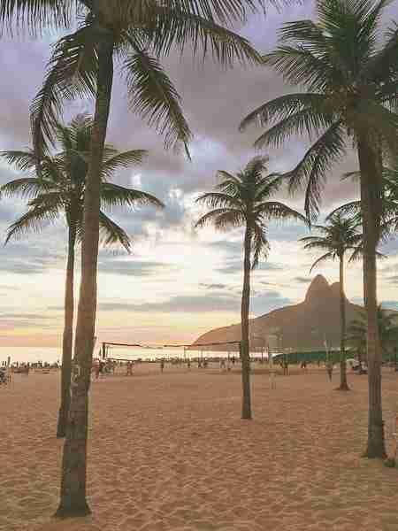 Primavera en Rio de Janeiro-playa de ipanema