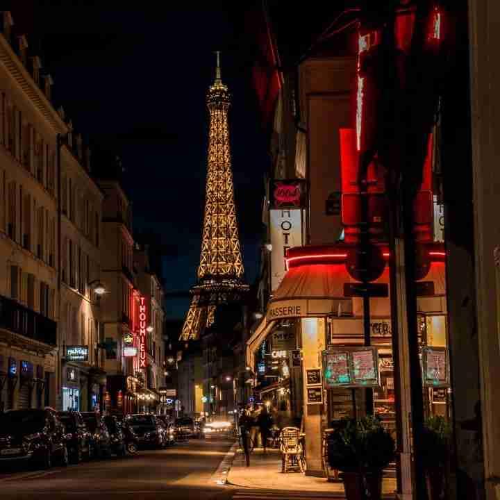 calles de Paris de noche